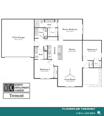 Floor Plan Tremont Cobbleton Grove Luxury Condominium